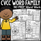 CVCC Word Family Word Work