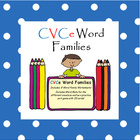 CVCe - Long Vowel Word Work Game for Literacy Centers
