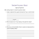 Cages by Peg Kehret student response sheet chapter 6