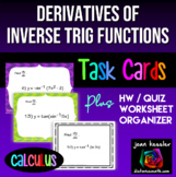 Calculus: Derivatives of Inverse Trig Functions *Task Card