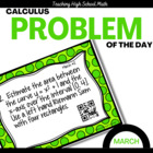Calculus Problem of the Day for March (with optional QR Codes)