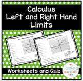 Calculus Working with Left and Right Hand Limits Worksheet