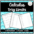 Calculus Working with Trig Limits (Squeeze and Sandwich Th