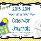 "Calendar Journals with ""Week at a Time"" View"
