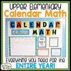 Calendar Math Resource Pack for Upper Elementary } Math Ce