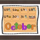 Calendar Piece Patterning ABC Halloween Theme