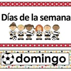 Calendar Math in Spanish. Soccer theme.