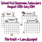 Calendars: Primary School Kids