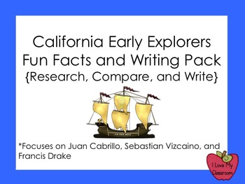 California Early Explorers Facts and Writing Pack