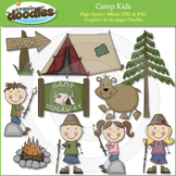 Camp Kids Clip Art