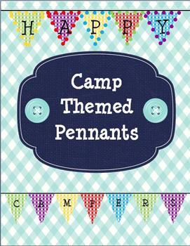 Camp Themed Pennants