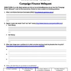 Campaign Finance Webquest