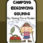 Camping Kiddos Beginning Sounds - A Camping Themed Activity