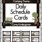 Camping Theme Daily Schedule Cards