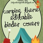 Camping Theme Editable Binder Covers