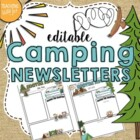 Camping Theme Newsletter Template- PUBLISHER FILE