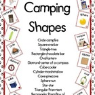 Camping Theme Shape Posters