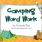 Camping Word Work Centres