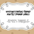 Camping/Woodland Theme Monthly Drawer Labels