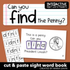 """Interactive Sight Word Reader """"Can You Find the Penny?"""""""