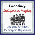 Canada's Native Peoples: 15 Graphic Organizers - Traditional Ways
