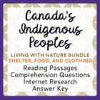 Canada's Native Peoples: Living with Nature, Bundle of 3: