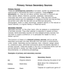 Canadian History Primary Versus Secondary Sources Handout