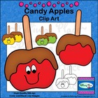 Candy Apples Clip Art - Freebie
