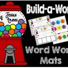 Candy Build-A-Word Mats {in color & b/w)