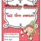 Candy Cane: Add Three Numbers