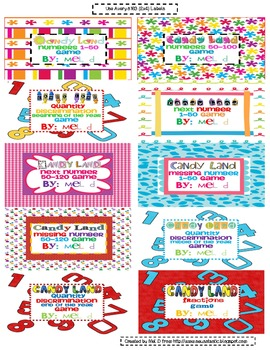 Candy Land Math (2x4) Labels Freebie