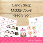 Candy Shop Middle Vowel Read and Sort