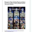 Canterbury Tales: Parson's Tale Activity Pack, Quiz, Summary