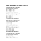 Capacity including Gallon Man Song, Diagram and Practice P