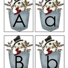 Capital and  Lower Case Winter Alphabet Matching Cards / F