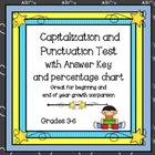 Capitalization and Punctuation Test with Answer Key & Perc