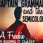 Captain Grammar and the Semicolon:  A Readers' Theater Ski