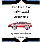 Car Create Sight Words Activities