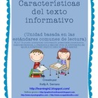 Non Fiction Text Features in Spanish / Características de