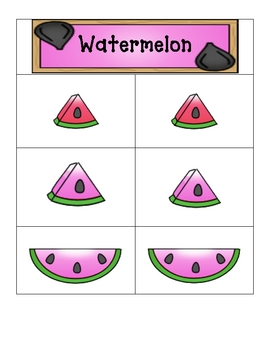 Card Matching- Wonderful Watermelons