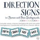 Cardinal & Ordinal Direction Signs in Chevron