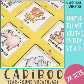 Cariboo: Year-Round Vocabulary Cards