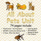 Caring for Pets Unit (Special Education or Early Learners)