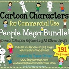Cartoon Clip Art People Mega Pack for Commercial Use