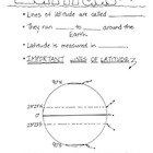 Cartoon Notes for Map Skills-Latitude