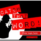 Catch That Word - Customizable PowerPoint Review Game