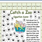 Catch a Zoo Equation Game for Third through Fifth Grade