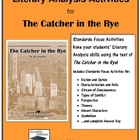 Catcher in the Rye Literary Analysis Activities