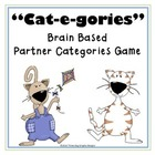 Categories Brain Based Vocabulary File Folder Game - Cat Theme