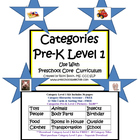 Categories Pre-K Level 1